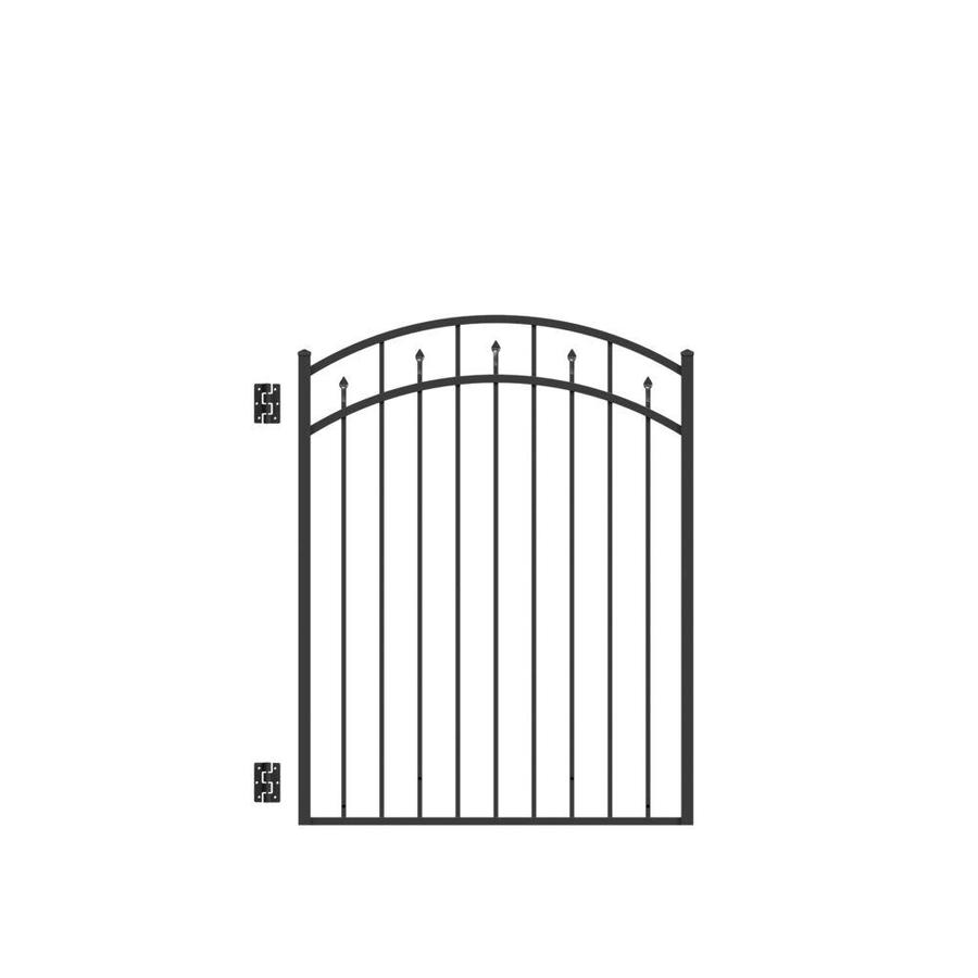 Freedom (Common: 4.5-ft x 4-ft; Actual: 4.66-ft x 3.875-ft) Concord Black Aluminum Decorative Fence Gate
