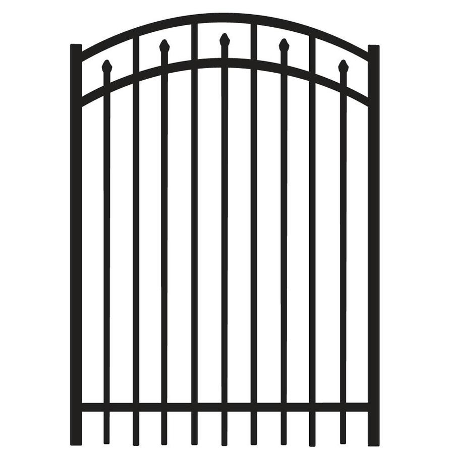 Freedom (Common: 5-ft x 4-ft; Actual: 5.04-ft x 3.875-ft) Concord Black Aluminum Decorative Fence Gate