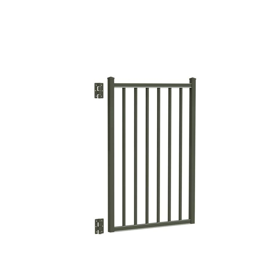 Freedom (Common: 4-ft x 3-ft; Actual: 4.16-ft x 2.875-ft) Easton Pewter Aluminum Decorative Fence Gate