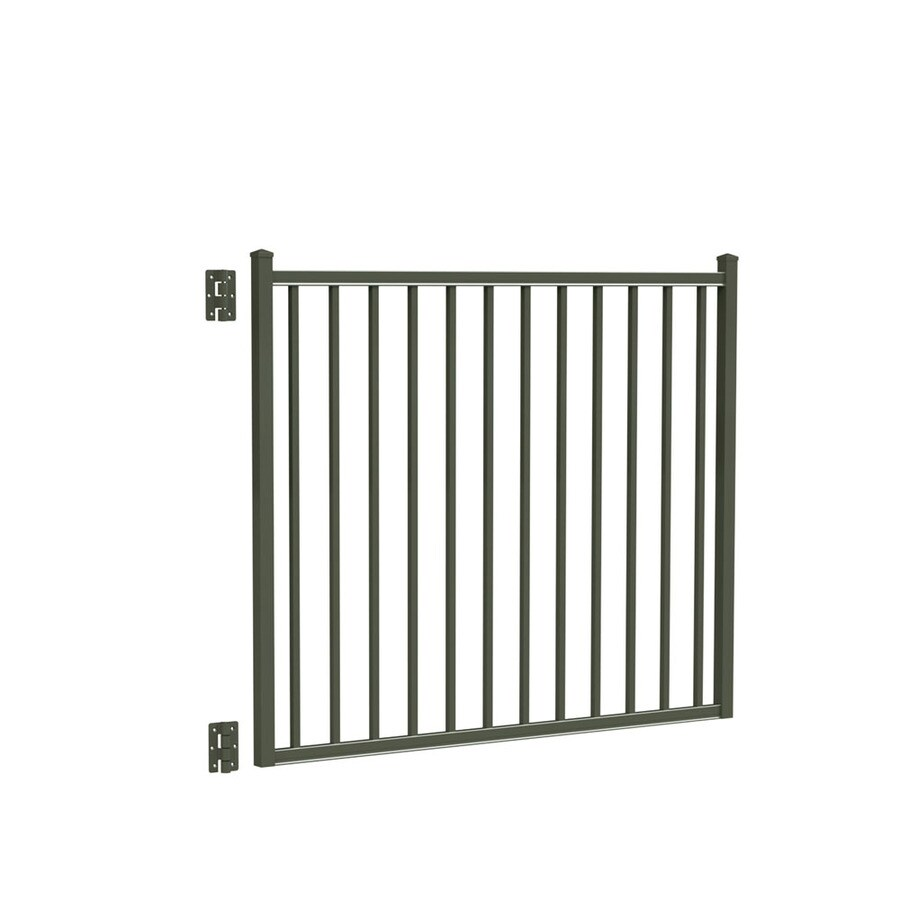 Freedom Easton Pewter Aluminum Decorative Fence Gate (Common: 4-ft x 5-ft; Actual: 4.16-ft x 4.875-ft)
