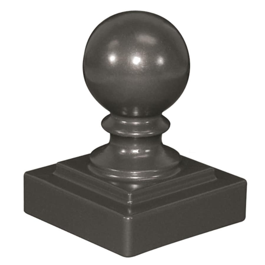 Freedom (Fits Common Post Measurement: 2-in; Actual: 2.25-in x 2.25-in) Standard Pewter Aluminum Post Cap