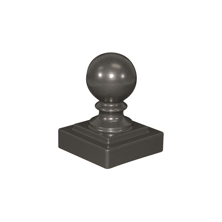 Freedom (Fits Common Post Measurement: 2-1/2-in; Actual: 2.75-in x 2.75-in) Heavy-Duty Pewter Aluminum Post Cap