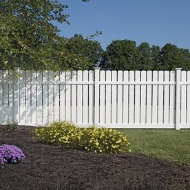 White fence Tumblr Freedom actual 606ft 8ft Readyto Vinyl Fence Panels At Lowescom