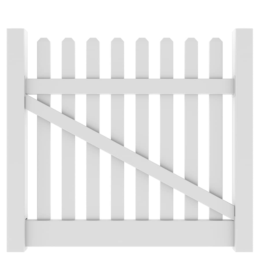 WHITE 2 Sets 2 Ultra Decorative Gate Kits Vinyl Fence Approved NEW SEALED