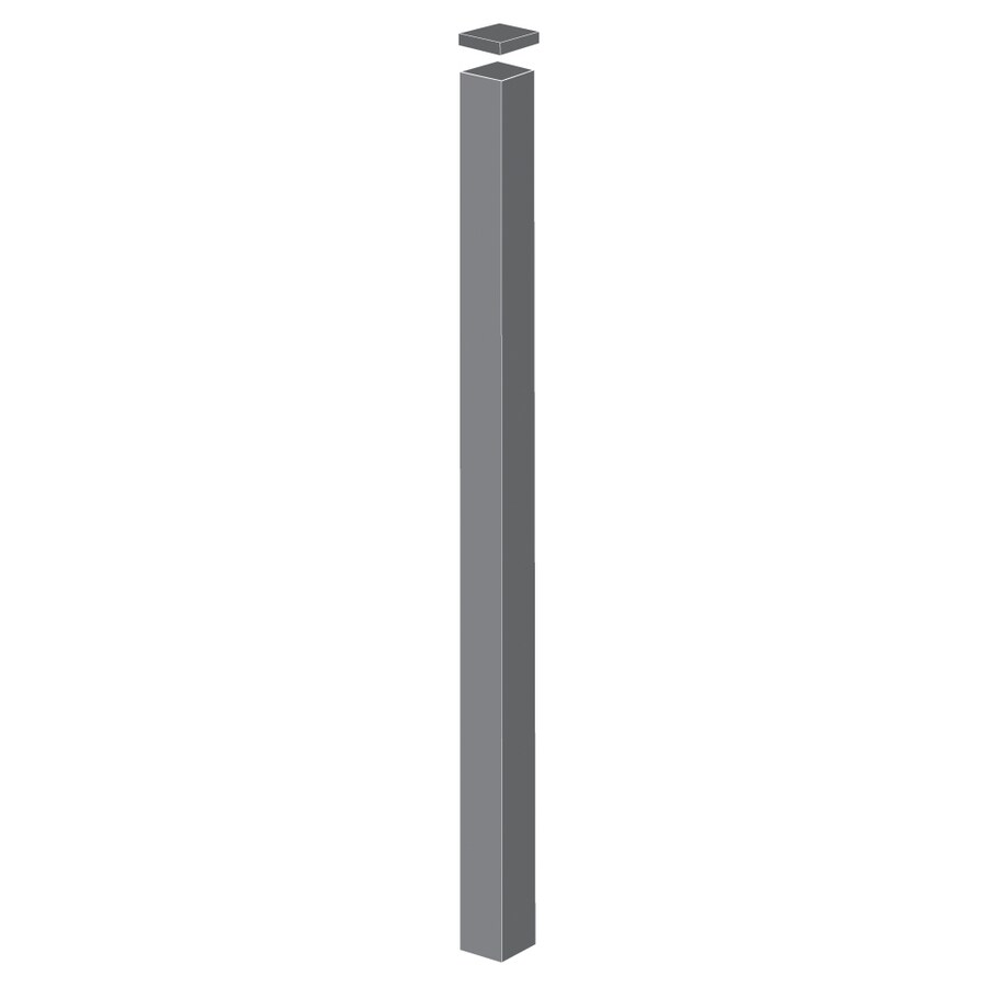 Freedom (Common: 4-in x 4-in x 9-ft; Actual: 4-in x 4-in x 8.83-ft) Pewter Aluminum Fence Blank Post