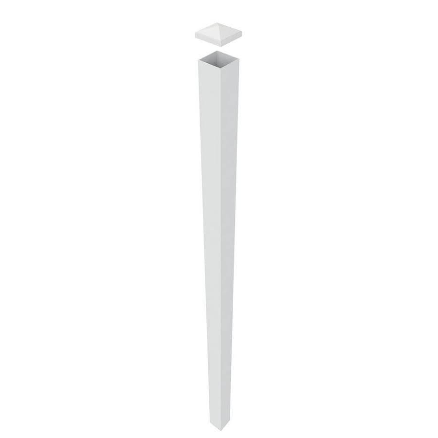 Freedom (Common: 4-in x 4-in x 9-ft; Actual: 4-in x 4-in x 8.83-ft) White Aluminum Blank Post