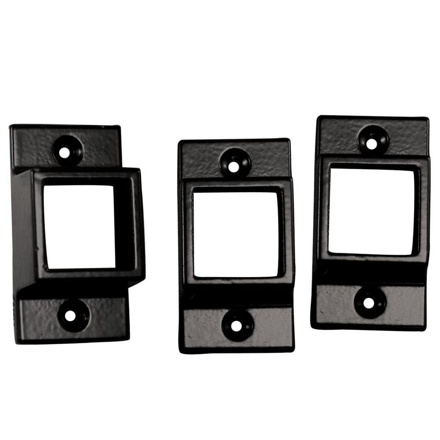 Freedom Standard 3 Pack Black Aluminum Fence Wall Brackets