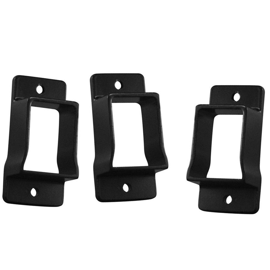 Freedom Heavy-Duty 3-Pack Black Aluminum Fence Wall Brackets