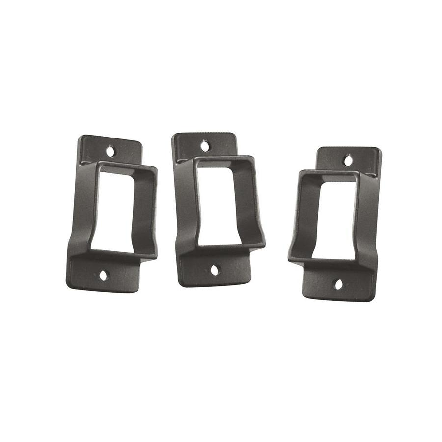 Freedom Heavy-Duty 3-Pack Pewter Aluminum Fence Wall Brackets