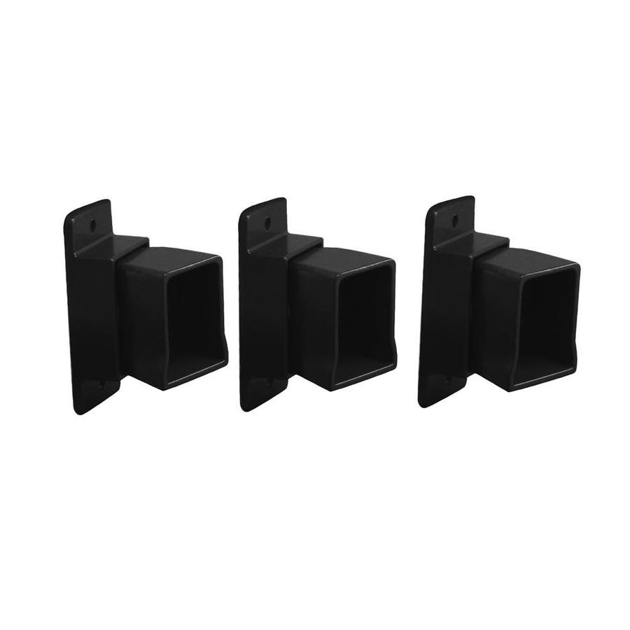 Freedom Heavy-Duty 3-Pack Black Aluminum Fence Angle Brackets
