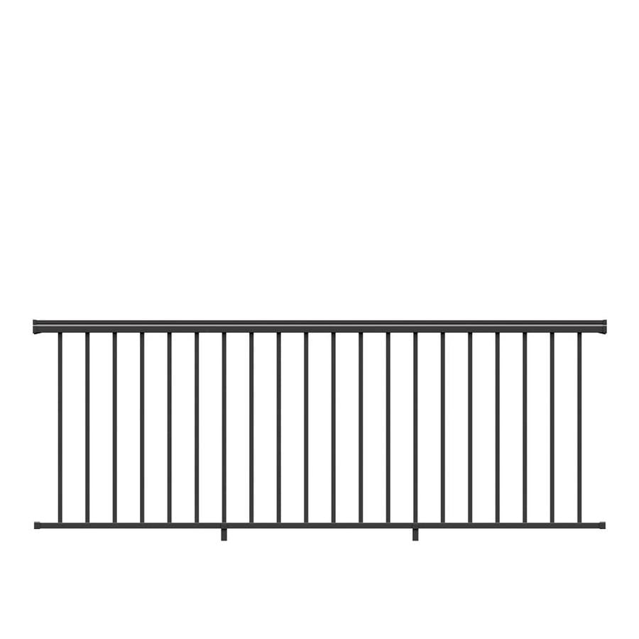 Freedom (Assembled: 8-ft x 3-ft) VersaRail Black Aluminum Deck Railing Kit