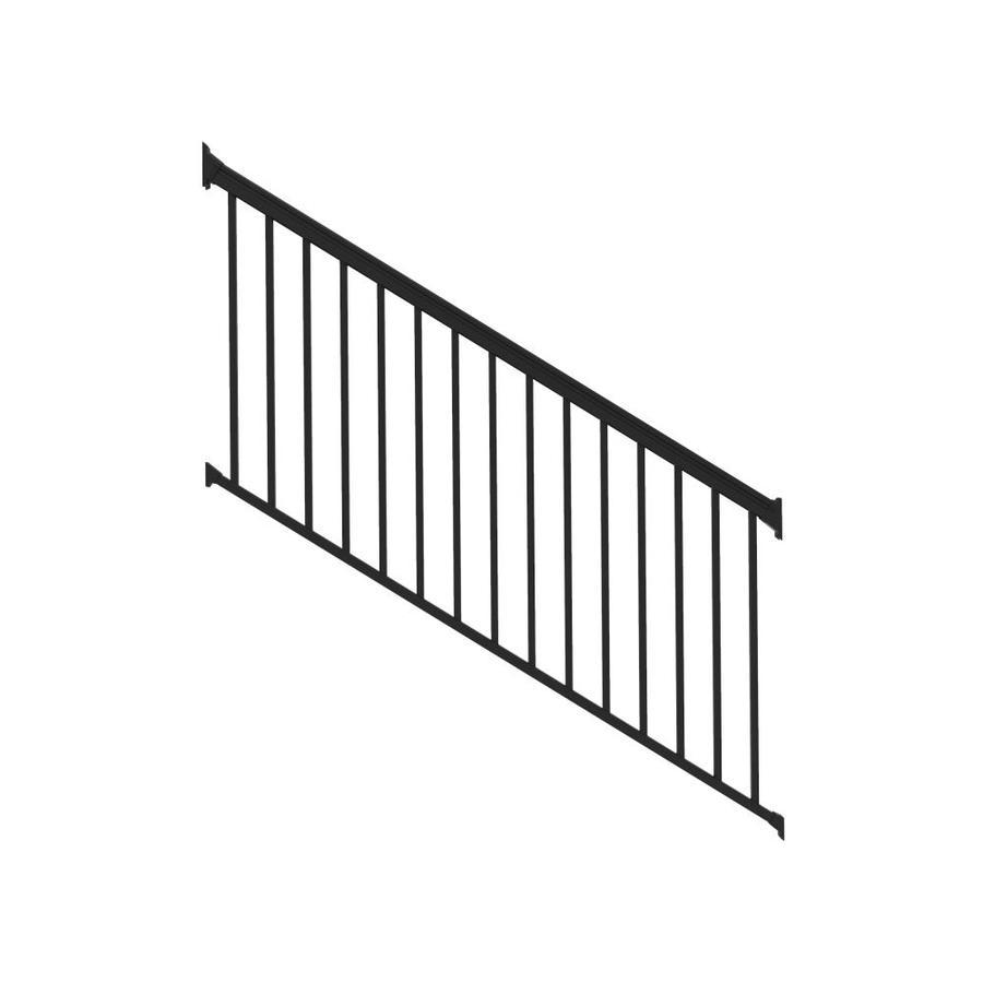 aluminum deck railings lowes. freedom (assembled: 8-ft x 3-ft) versarail white aluminum deck railings lowes i