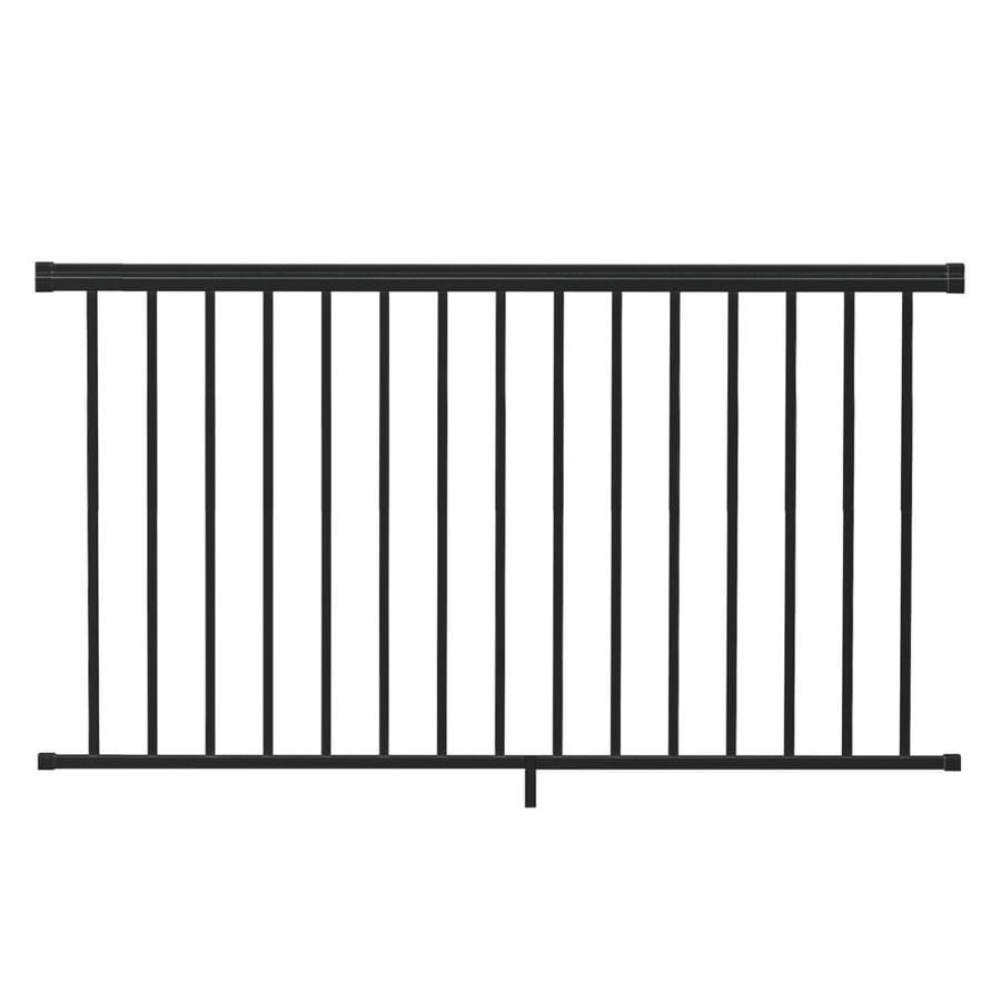 Freedom (Assembled: 6-ft x 3.5-ft) VersaRail Black Aluminum Deck Railing Kit