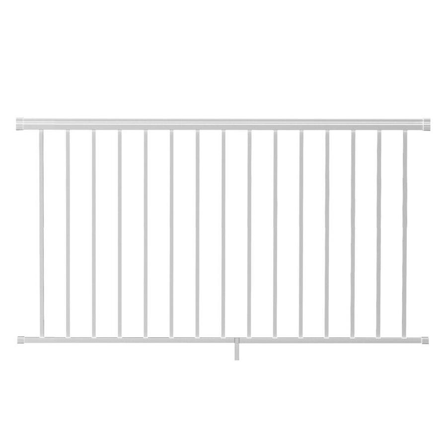 Freedom (Assembled: 6-ft x 3.5-ft) VersaRail White Aluminum Deck Railing Kit