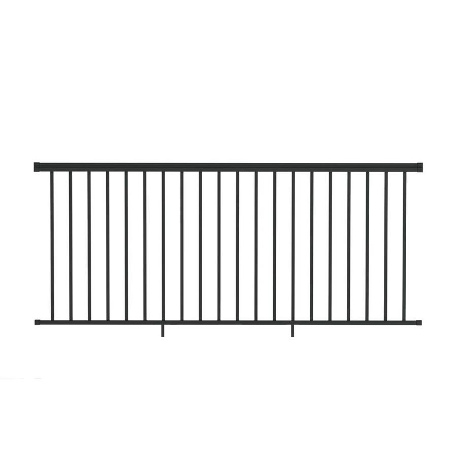 Freedom (Assembled: 8-ft x 3.5-ft) VersaRail Black Aluminum Deck Railing Kit