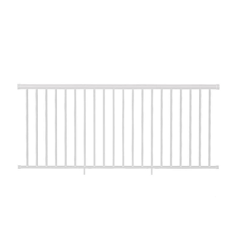 Freedom (Assembled: 8-ft x 3.5-ft) VersaRail White Aluminum Deck Railing Kit