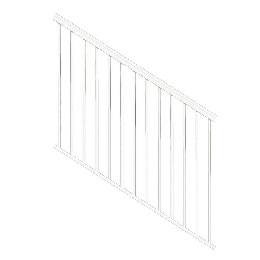 Freedom (Assembled: 6-ft x 3-ft) VersaRail White Aluminum Deck Railing Kit