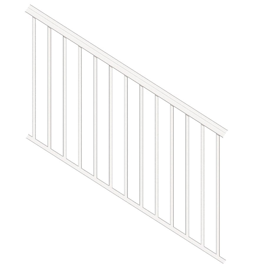 Freedom (Assembled: 6-ft x 3.5-ft) VersaRail White Aluminum Deck Railing Kit