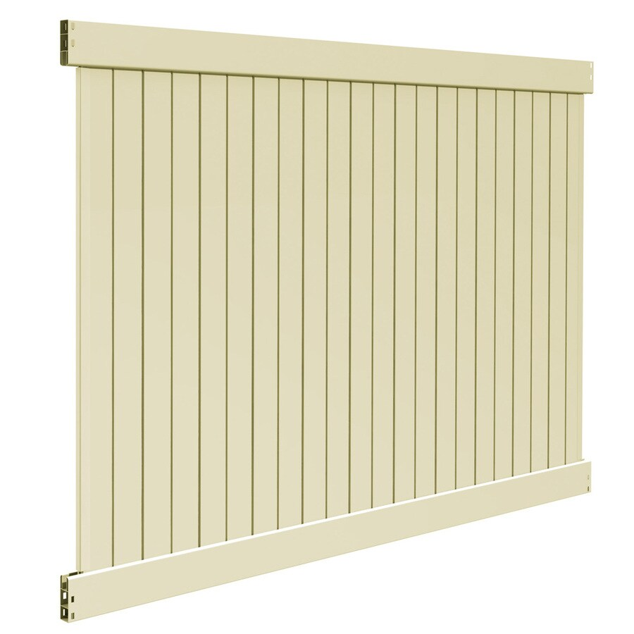 Barrette Contractor Stratford Sand Flat-Top Privacy Vinyl Fence Panel (Common: 72-in x 8-ft; Actual: 72-in x 7.58-ft)