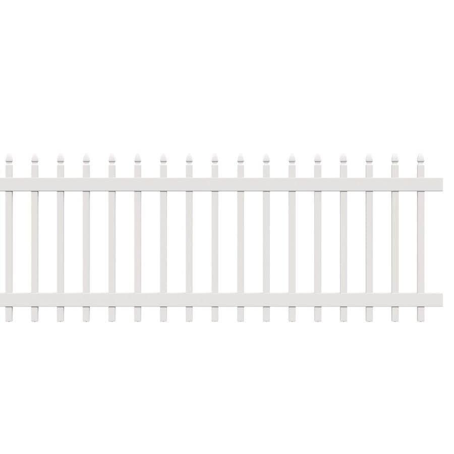 Freedom Fence Lowes >> Freedom Actual 2 83 Ft X 7 63 Ft Pre Assembled Newport White