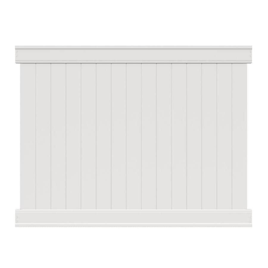 Freedom Fence Lowes >> Freedom Actual 6 Ft X 7 82 Ft Ready To Assemble Emblem White