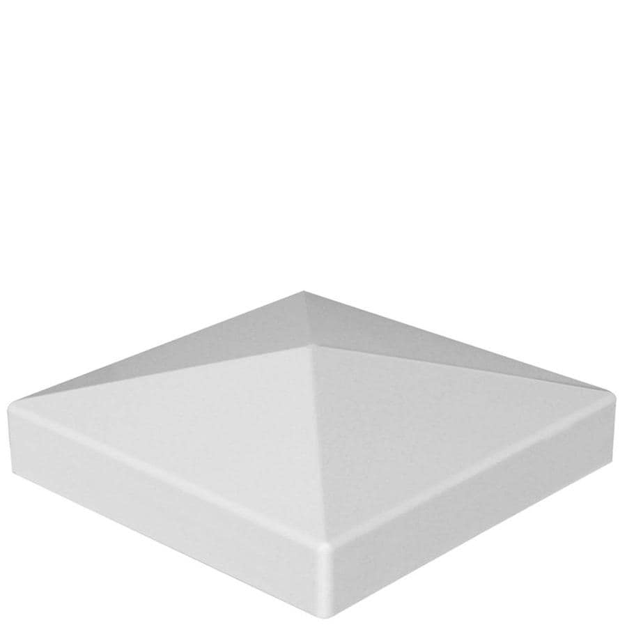 Freedom White Vinyl Fence Post Cap (Fits Common Post Measurement: 4-in; Actual: 4.125-in x 4.125-in)