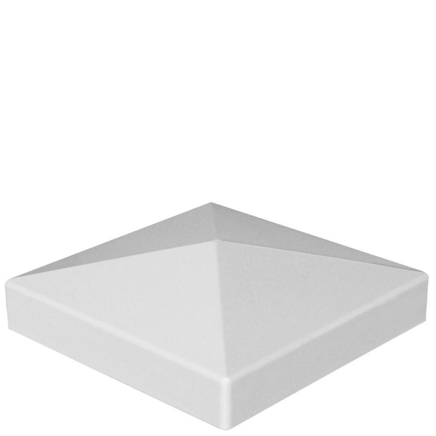 Freedom (Fits Common Post Measurement: 4-in; Actual: 4.125-in x 4.125-in) White Vinyl Post Cap