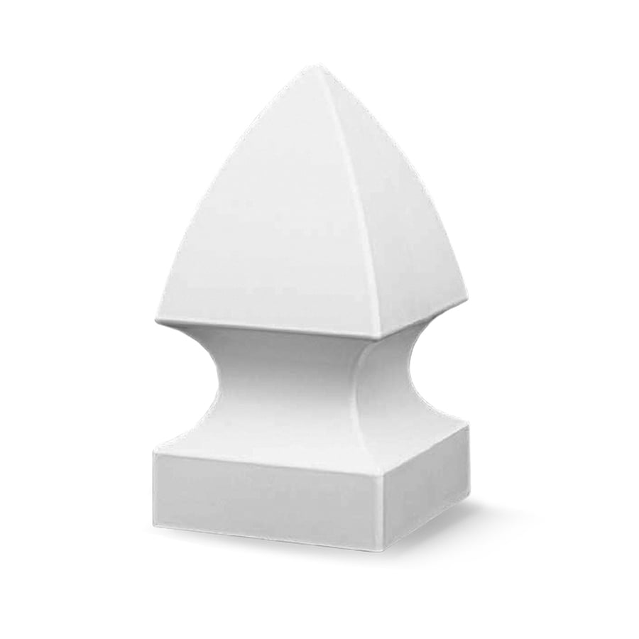 Freedom (Fits Common Post Measurement: 4-in; Actual: 4.125-in x 4.125-in) White Vinyl Post Cap