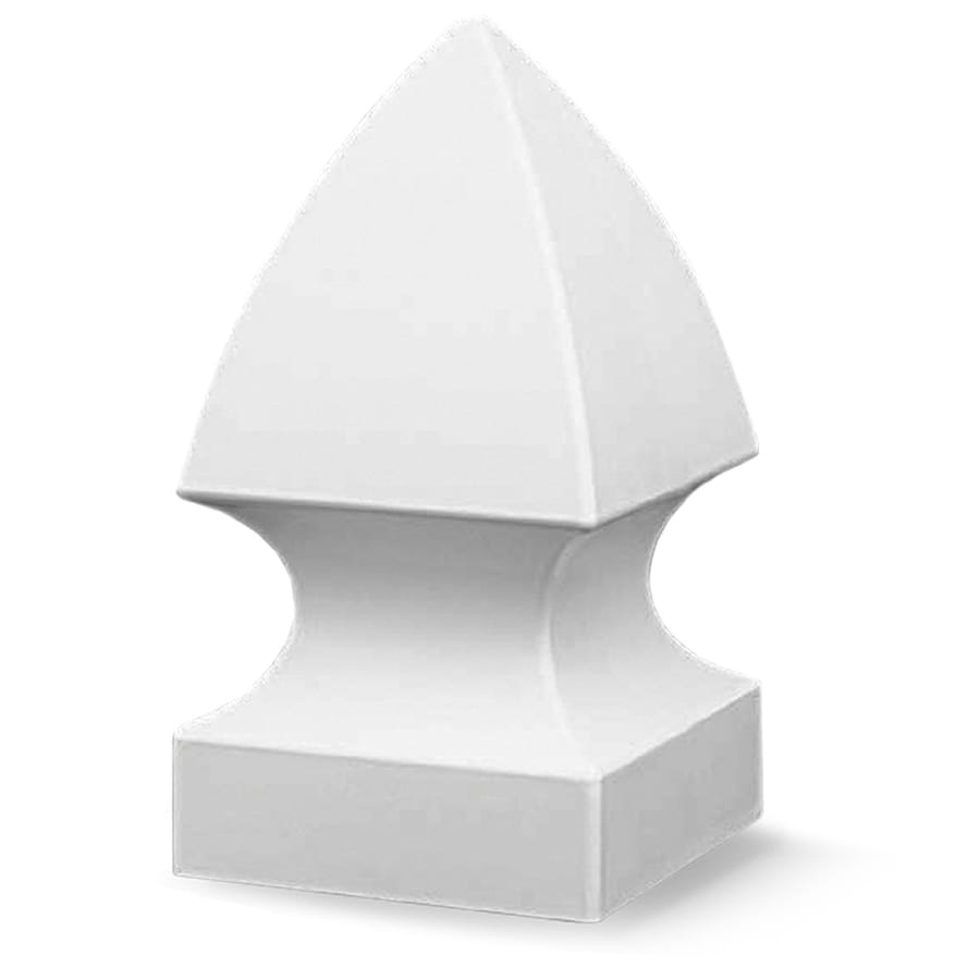 Gatehouse White Vinyl Fence Post Cap (Fits Common Post Measurement: 5-in; Actual: 5.25-in x 5.25-in)
