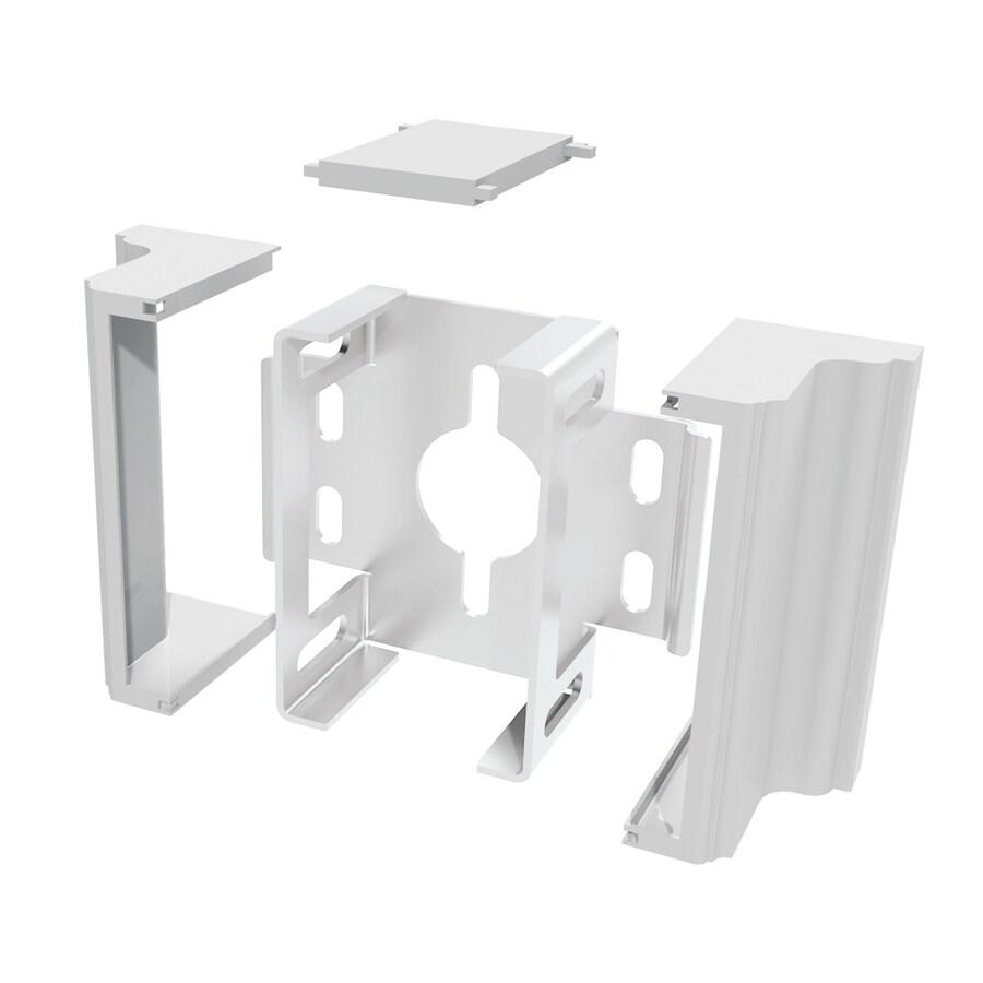 Gatehouse 2-Pack White Aluminum Fence Brackets