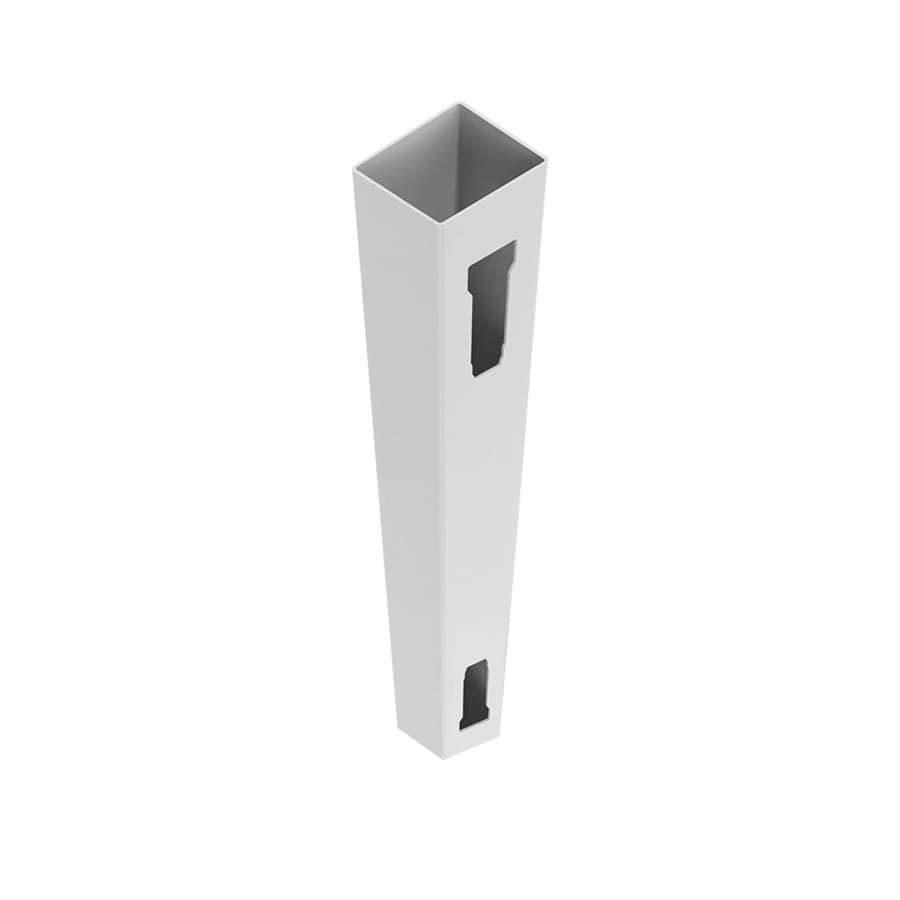 Freedom (Common: 5-in x 5-in x x 9-ft; Actual: 5-in x 5-in x x 9-ft) Ready-to-Assemble White Vinyl End Post