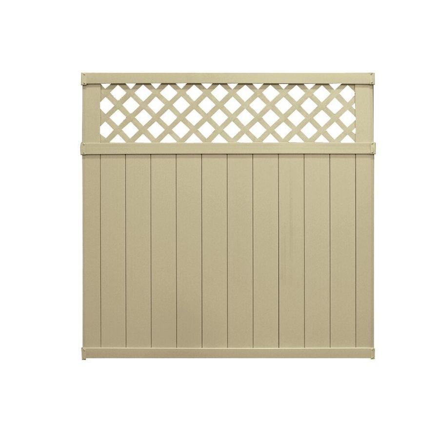 Freedom Pre-Assembled Wellington Desert Sand Vinyl Privacy Fence Panel (Common: 6-ft x 6-ft; Actual: 5.66-ft x 5.65-ft)