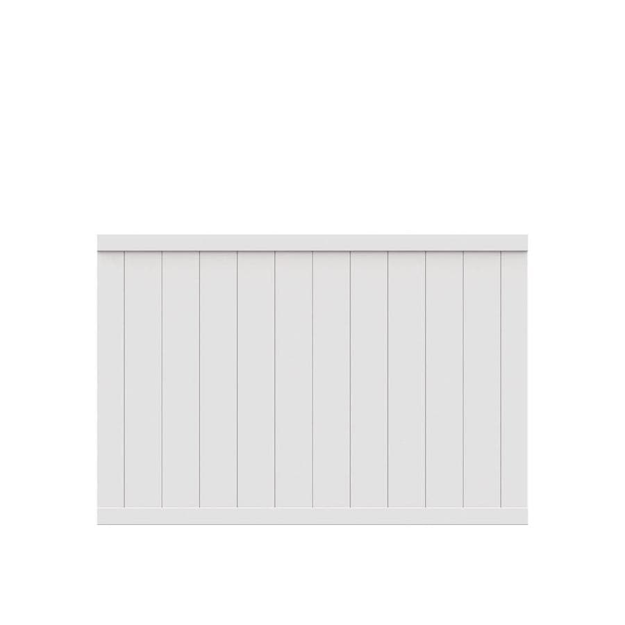 Freedom (Common: 4-ft x 6-ft; Actual: 3.83-ft x 5.66-ft) Pre Assembled Crosston White Vinyl Privacy Fence Panel