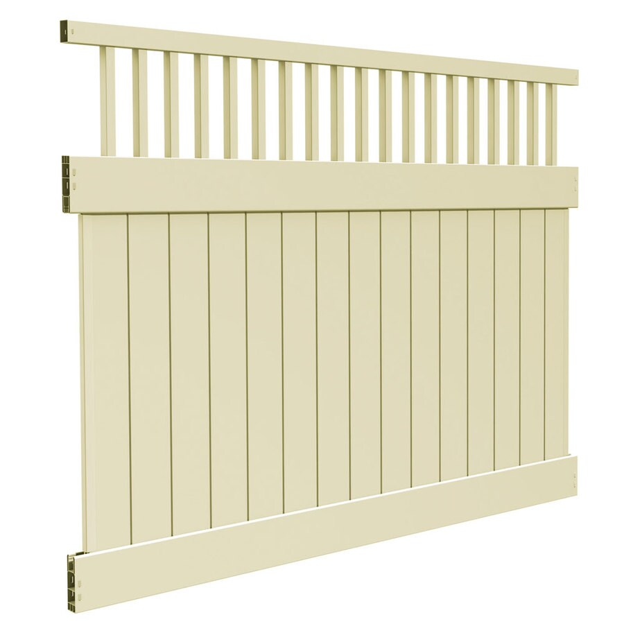 Freedom (Common: 6-ft x 8-ft; Actual: 6-ft x 7.56-ft) Ready To Assemble Bristol Sand Vinyl Semi-privacy Fence Panel