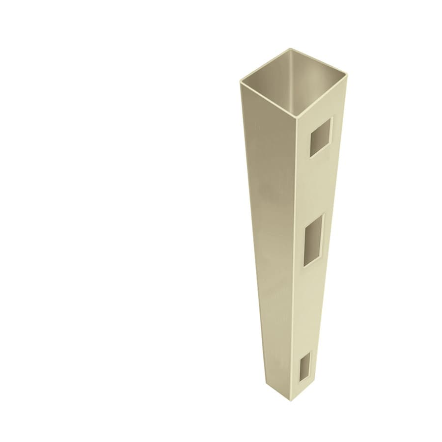 Freedom Ready-To-Assemble Sand Vinyl Fence End Post (Common: 5-in x 5-in x 9-ft; Actual: 5-in x 5-in x 9-ft)