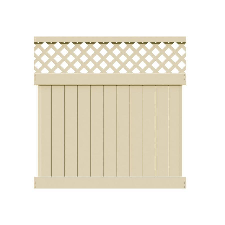 Freedom (Actual: 5.83-ft x 5.56-ft) Ready-to-Assemble Freeport Sand Vinyl Semi-privacy Panel