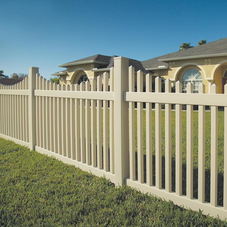 Freedom Ready-To-Assemble Carlisle Scallop Sand Vinyl Fence Panel (Common: 4-ft x 6-ft; Actual: 3.83-ft x 5.64-ft)