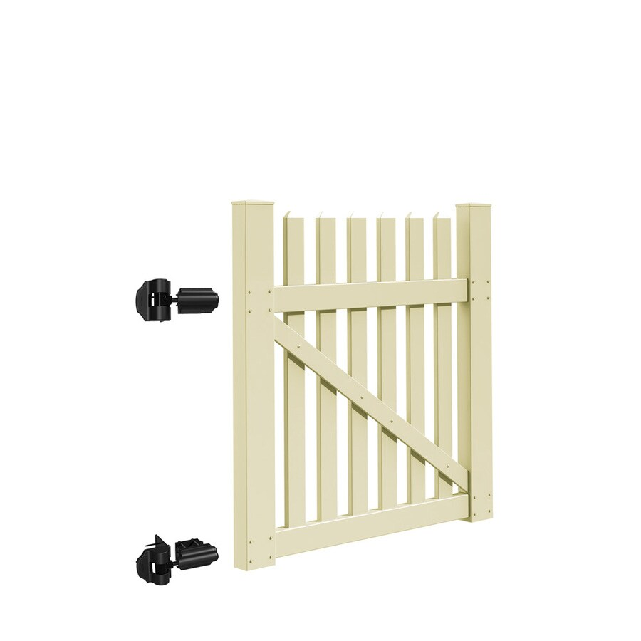 Freedom (Common: 4-ft x 4-ft; Actual: 3.83-ft x 3.83-ft) Coventry Sand Vinyl Gate