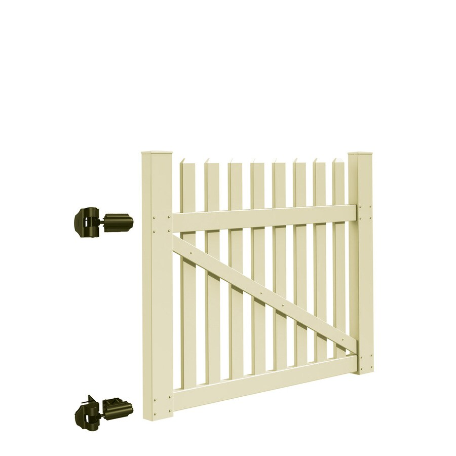 Freedom Coventry Sand Vinyl Vinyl Fence Gate (Common: 4-ft x 5-ft; Actual: 3.83-ft x 4.83-ft)