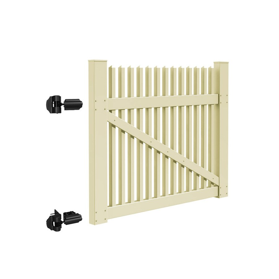 Freedom (Common: 4-ft x 5-ft; Actual: 3.83-ft x 4.83-ft) Carlisle Sand Vinyl Gate