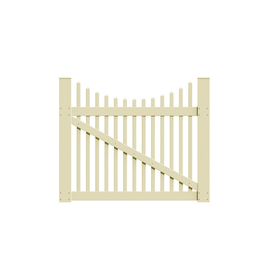 Freedom (Common: 4-ft x 5-ft; Actual: 3.83-ft x 4.83-ft) Carlisle Scallop Sand Vinyl Gate