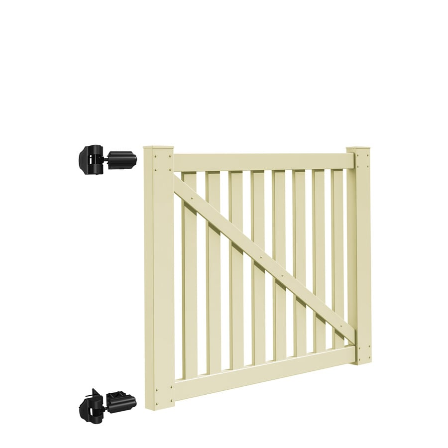 Freedom (Common: 4-ft x 5-ft; Actual: 3.83-ft x 4.83-ft) Durham Sand Vinyl Gate