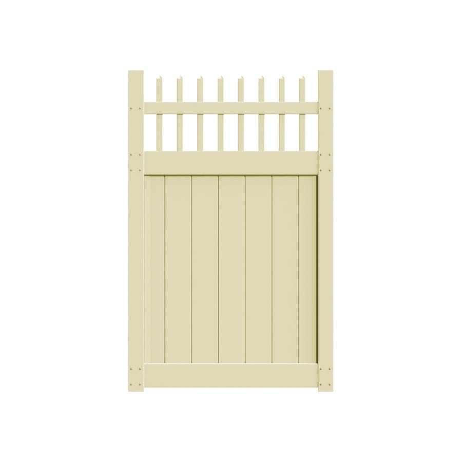 Freedom (Common: 6-ft x 4-ft; Actual: 5.83-ft x 3.83-ft) Manchester Sand Vinyl Gate