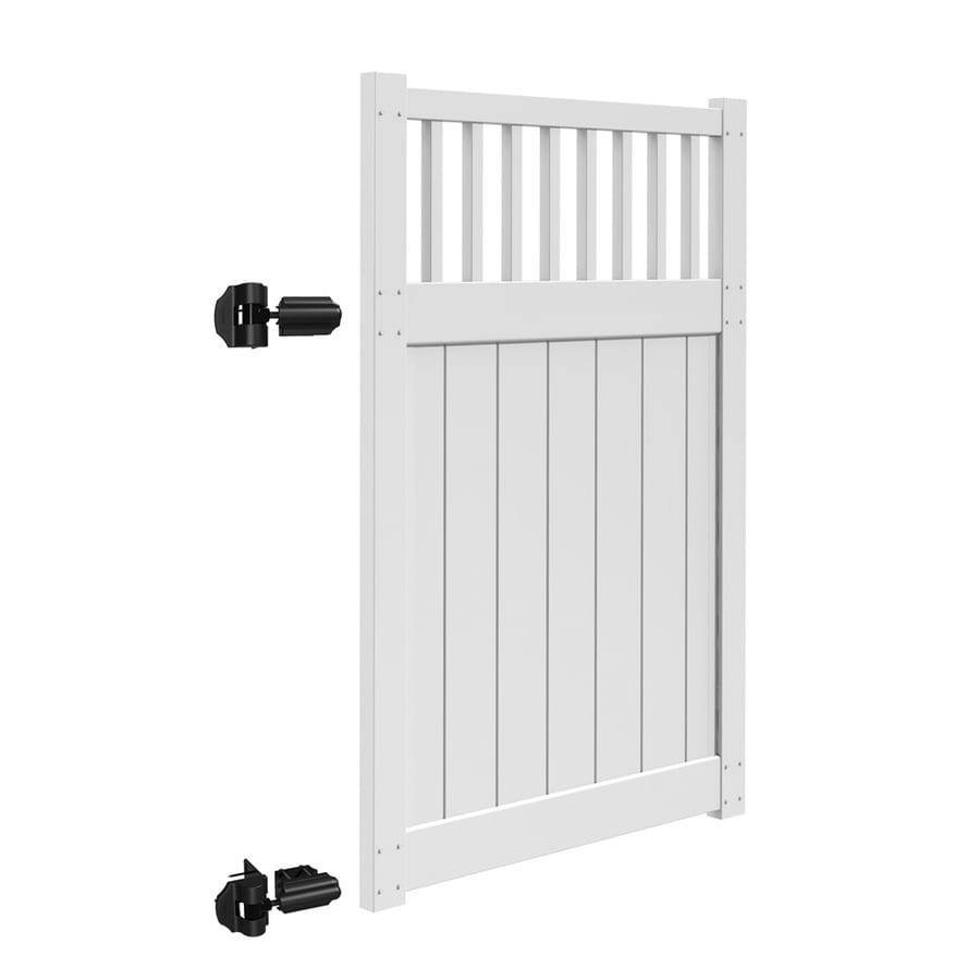 Freedom (Common: 6-ft x 4-ft; Actual: 5.83-ft x 3.83-ft) Bexley White Vinyl Gate