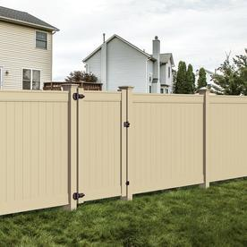 brown vinyl fence panels. freedom (actual: 6-ft x 7.82-ft) ready-to- brown vinyl fence panels