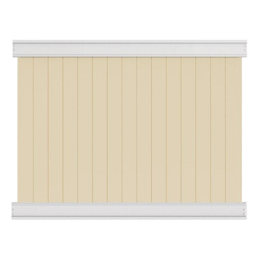 Freedom (Actual: 6-ft x 7.82-ft) Ready-to-Assemble Emblem Sand Vinyl Privacy Panel
