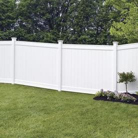 vinyl fence panels. Freedom (Actual: 6-ft X 7.82-ft) Ready-To- Vinyl Fence Panels E