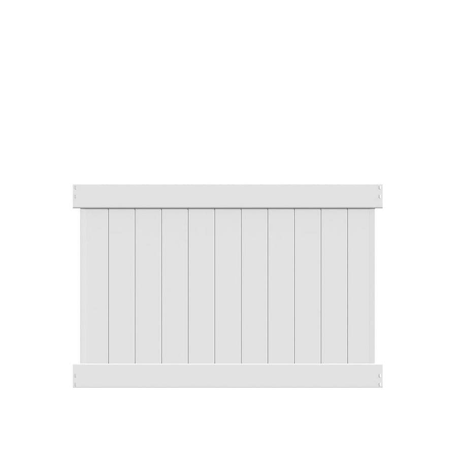 Freedom (Common: 4-ft x 6-ft; Actual: 3.83-ft x 5.56-ft) Ready To Assemble Hampton White Vinyl Privacy Fence Panel