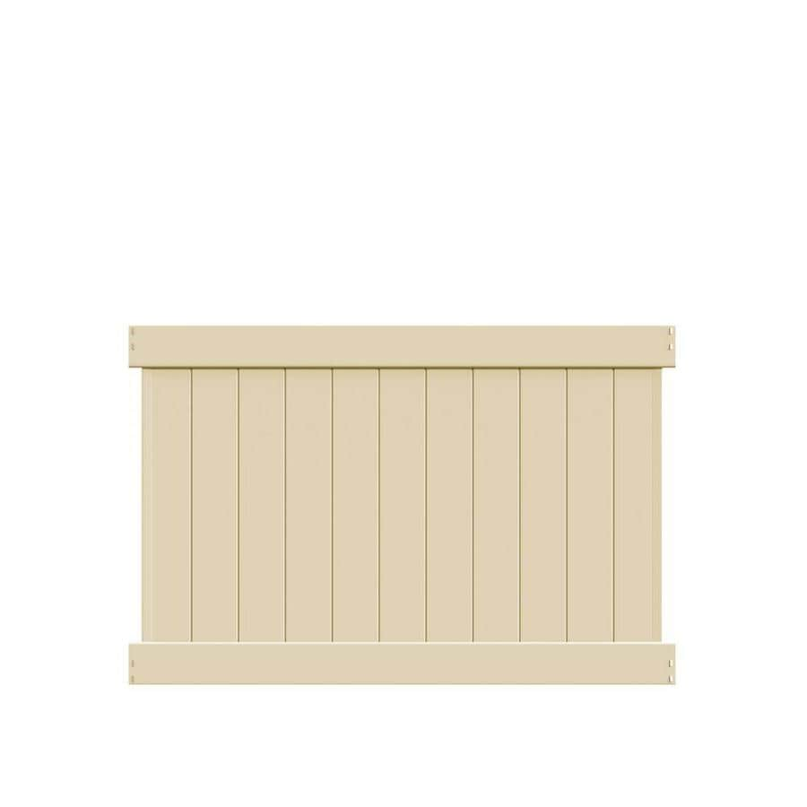 Freedom (Common: 4-ft x 6-ft; Actual: 3.83-ft x 5.56-ft) Ready To Assemble Hampton Sand Vinyl Privacy Fence Panel