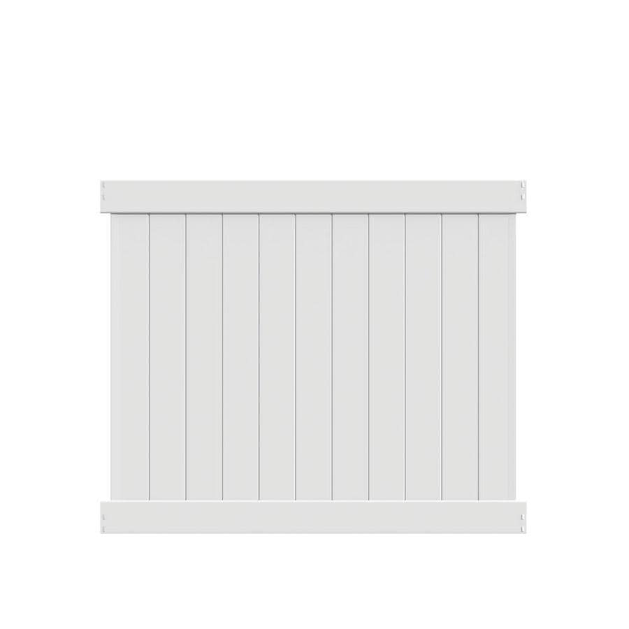 Freedom (Common: 5-ft x 6-ft; Actual: 4.83-ft x 5.56-ft) Ready To Assemble Hampton White Vinyl Privacy Fence Panel